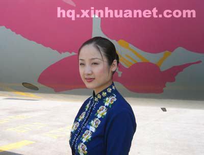 海航空姐叶文慧:空中微笑天使图片