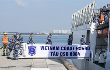 越南海警艦船圓滿結束首次訪華離開海口
