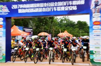 自行車——海南國際旅遊島自行車聯賽定安站開賽