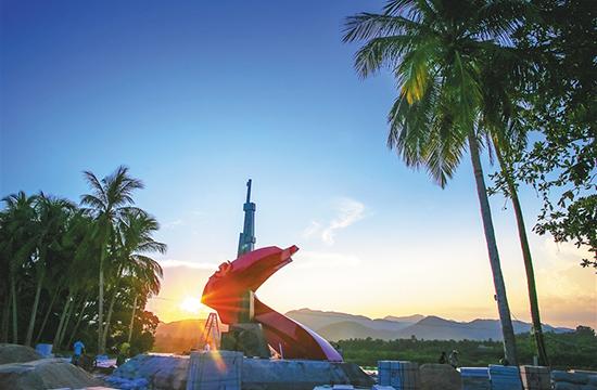 瓊海椰子寨戰鬥主題雕塑基本建成