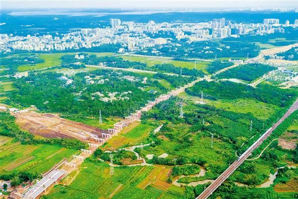 文瓊高速公路二標段路基施工完成90%