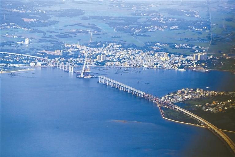 铺前大桥完工80% 预计今年年底建成通车