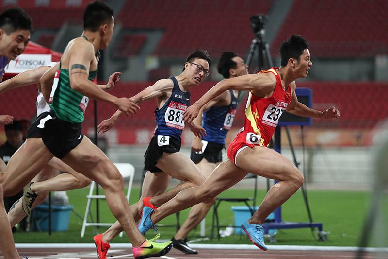 全國田徑冠軍賽男子100米決賽 海南隊選手奪冠