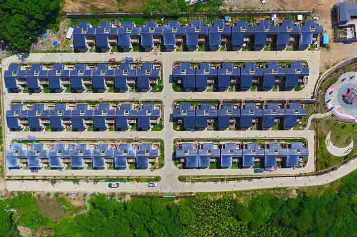 航拍海南瓊中合老村 感受農村新變化