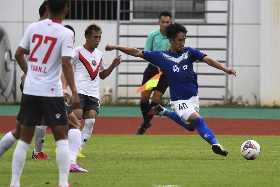 足球——中乙:海南海口平湖南湘涛华莱