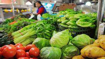 海口菜价有所回落 18种蔬菜平均零售价每斤4.84元