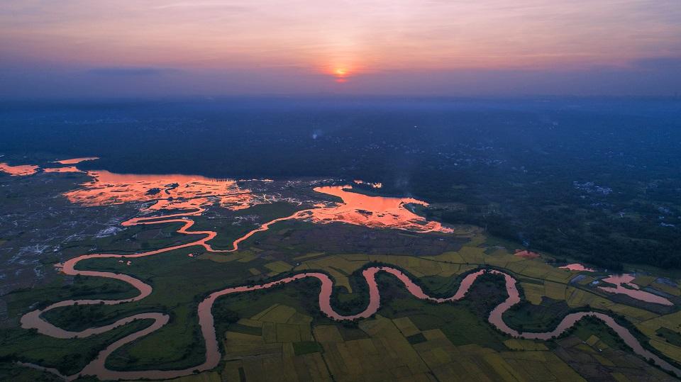 航拍全球首批国际湿地城市 看海口湿地有多美!