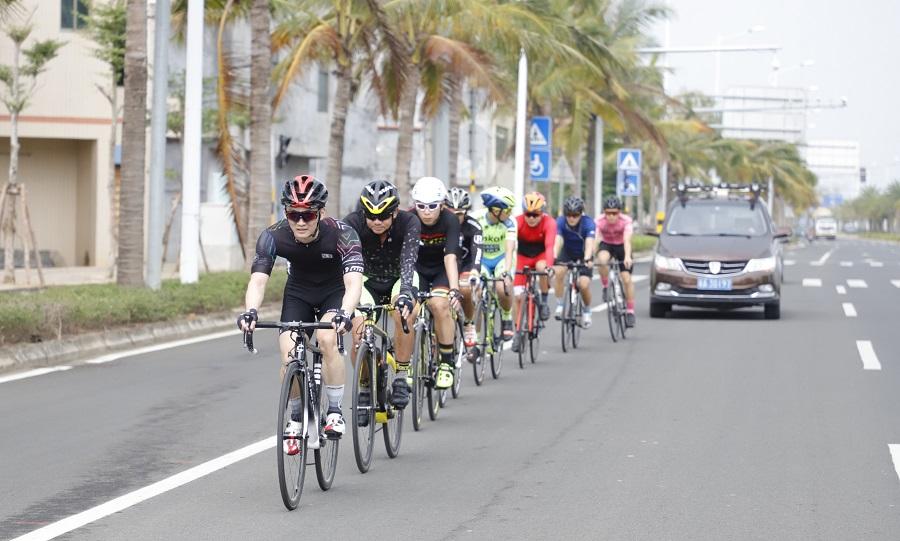 海口市全民健身运动推广季举行第四场骑行活动