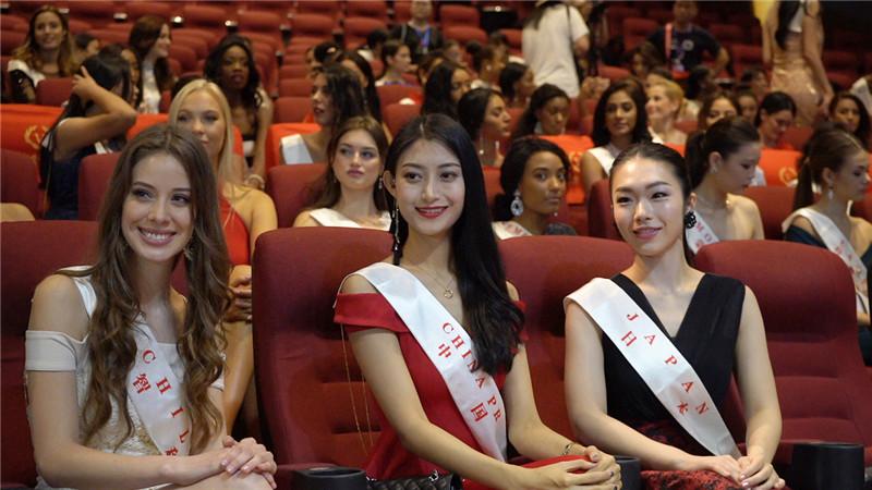 第68届世界小姐全球赛选手见面会三亚举行