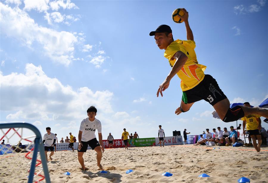 第二屆沙灘巧固球錦標賽在三亞舉行