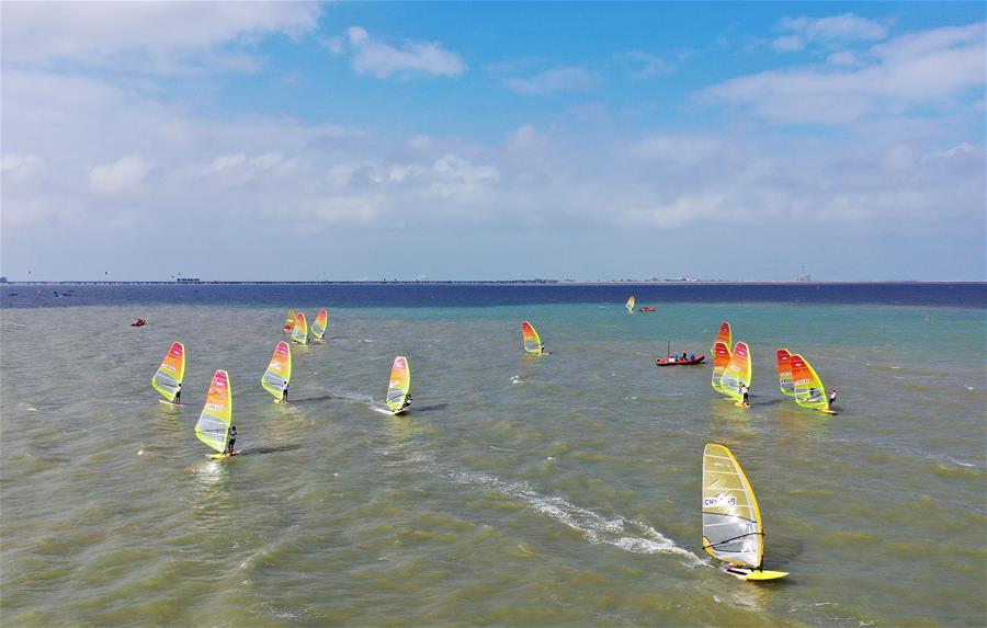 帆板——中國奧運帆船大獎賽海口開賽