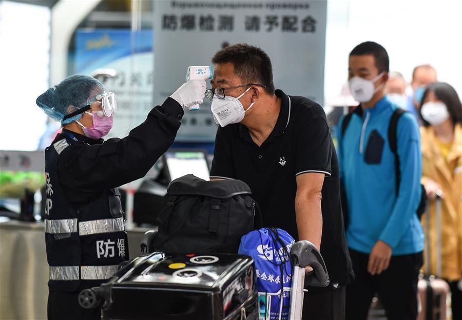 三亞機場全面檢測進出港旅客體溫