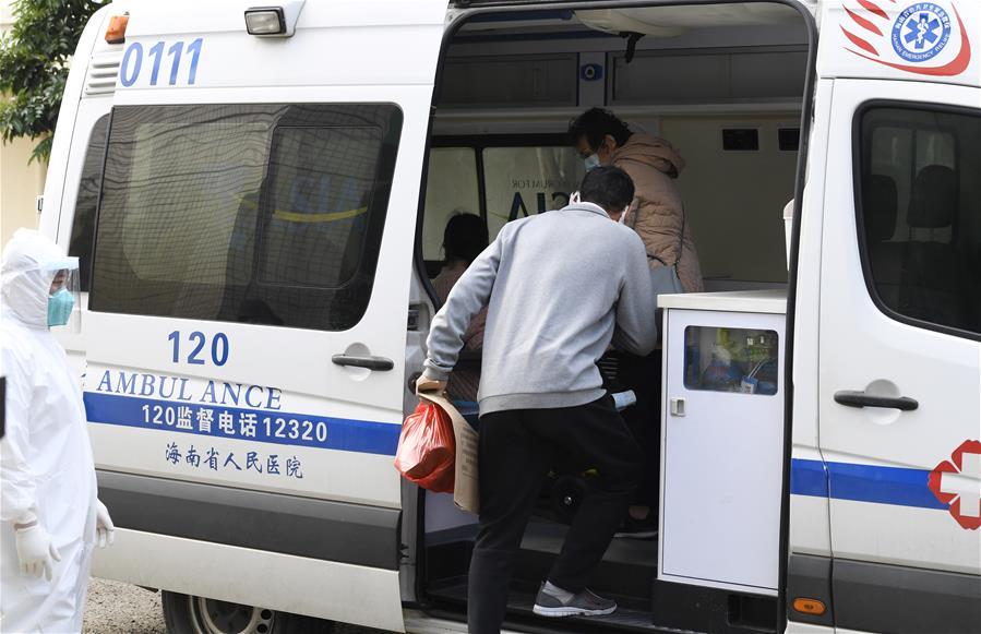 海口:5位新冠肺炎患者治愈出院