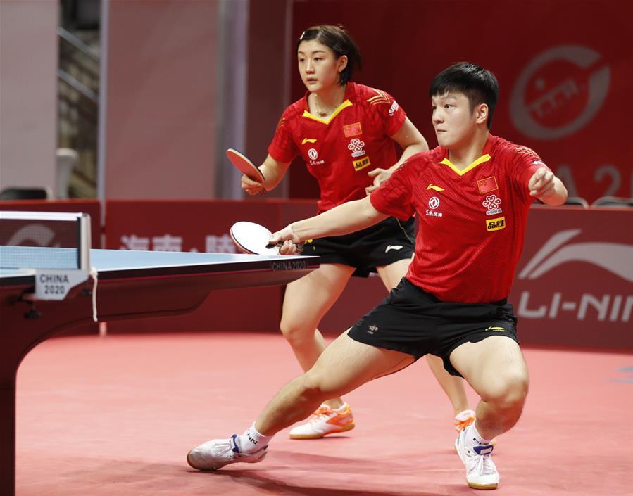 乒乓球——奧運模擬賽:樊振東/陳夢晉級混雙四強