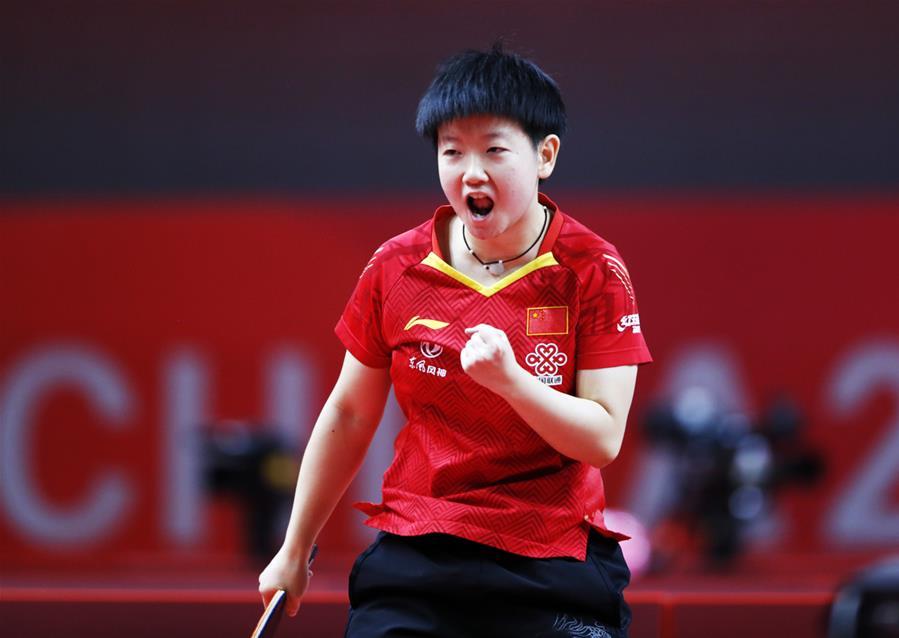 乒乓球——奧運模擬賽:孫穎莎女單奪冠