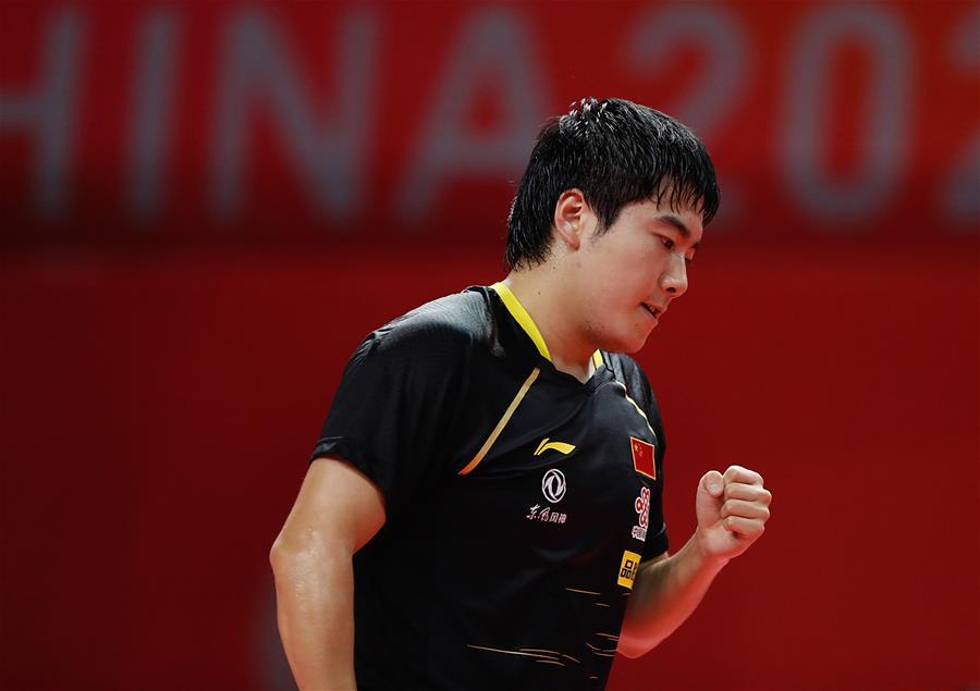 乒乓球——奧運模擬賽:梁靖崑男單奪冠