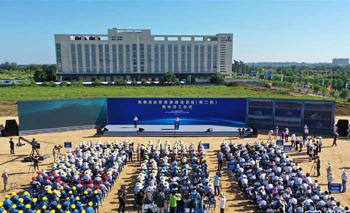 海南自貿港産業發展項目加速開工建設