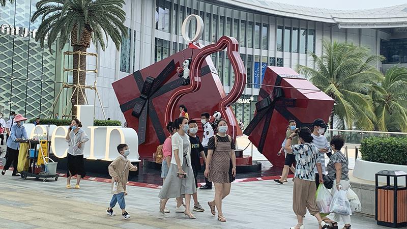 走進三亞國際免稅城 感受海南免稅購物熱