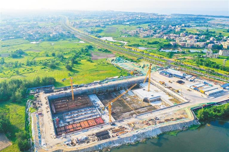 江東新區地埋式水質凈化中心項目計劃年底通水運行