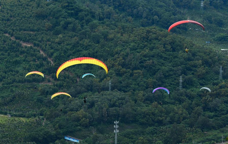 2020年環海南島飛行大賽滑翔傘定點賽開賽