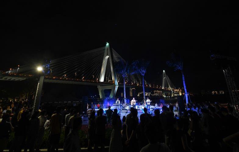椰城夜色引遊人