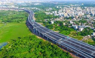 海秀快速路二期主線高架橋基本完工