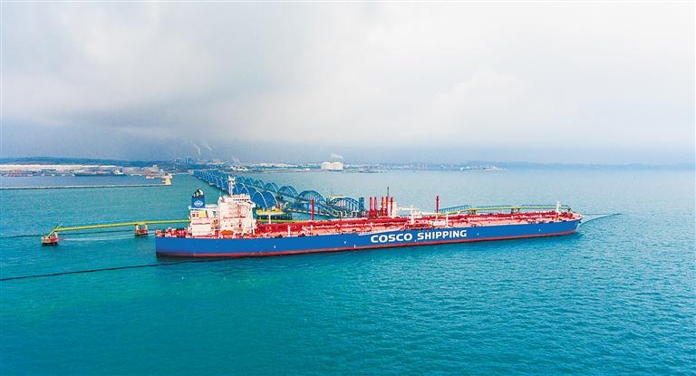 """""""遠福洋""""輪帶著27.4萬噸原油""""回娘家"""""""