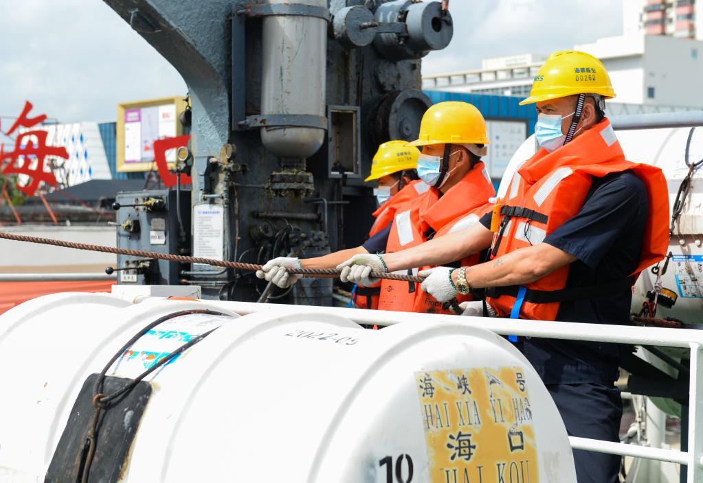 海口海事局開展瓊州海峽客滾船專項安全檢查